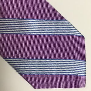 Brooks Brothers Purple Blue Striped Silk Tie